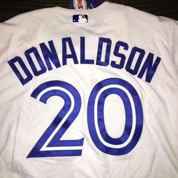 f05d271c0df81 New w  tags TORONTO BLUE JAYS  20 DONALDSON Authentic On FIeld Game Jersey  sz 48 retail  315 - NEW LISTING