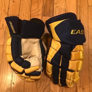 5158f1a129c SOLD.  175 · Brand New Patrick Hornqvist Team Sweden IIHF Easton HSX Pro  Stock Hockey Gloves 14