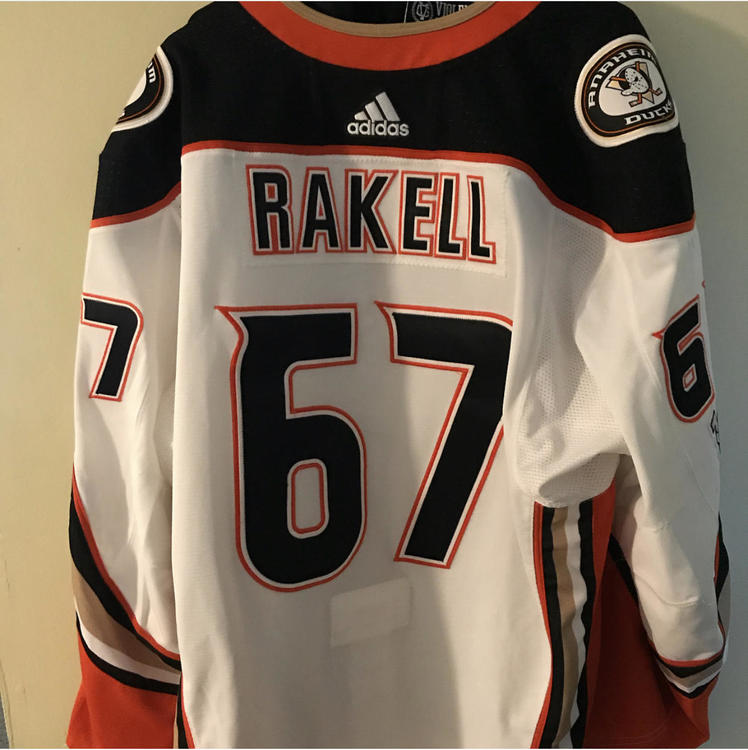 timeless design 77d04 32fb8 Game Used Rakell Jersey