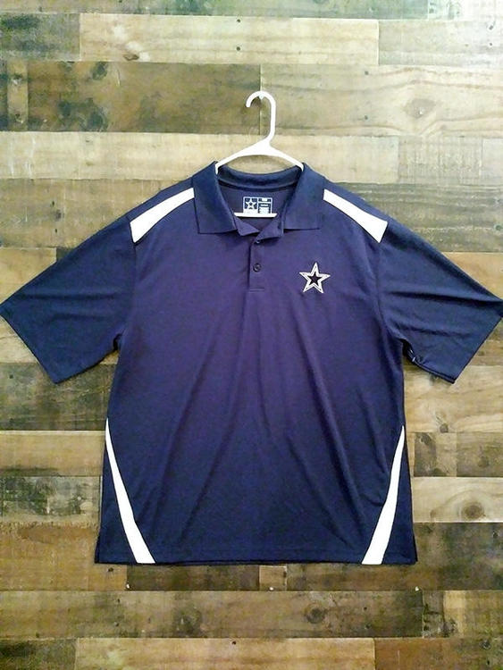 newest collection 1c610 a1f2a New Official Team Label NFL Football DALLAS COWBOYS Embroidered Polyester  Polo Shirt