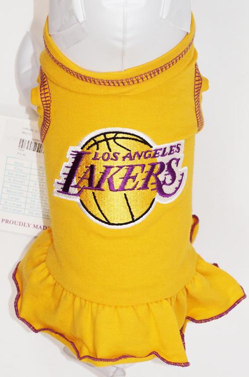 6ed45b1532c ... DOG - NBA CHEERLEADER YELLOW PET DRESS LA LOS ANGELES LAKERS NEW.  Related Items