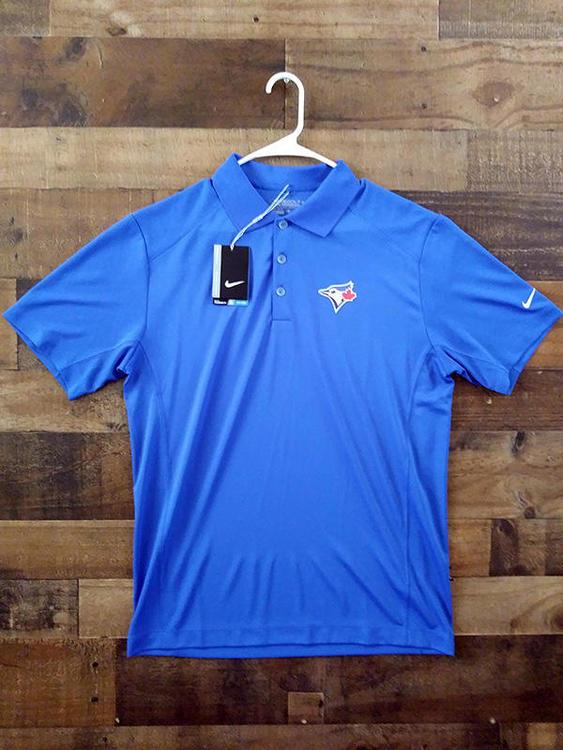 New Nike Golf Dri Fit MLB Baseball TORONTO BLUE JAYS Canadian Issue Button Polo  Shirt - 15% OFF c56d066232ec