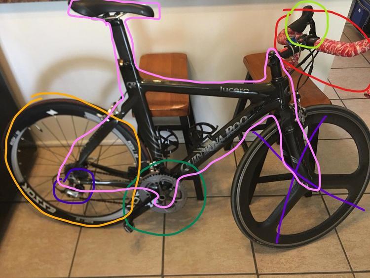 Carbon Fiber Bikes >> Quintana Roo 06 Lucero Full Carbon Fiber Bike Willing To Part Out