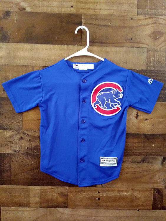 outlet store 6b1df e8d97 Majestic Cool Base MLB Baseball CHICAGO CUBS #17 Kris Bryant Embroidered  Button Player Jersey