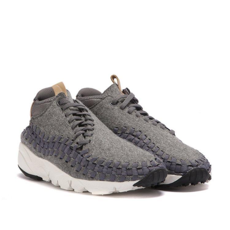 Nike Air Footscape Woven Chukka SE sz 9 Wool Grey Sail Vachetta Tan 857874  002 9c01c0a4b