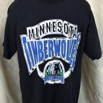 a0eccfabd Vintage 00 s Minnesota Timberwolves Basketball (XL) Retro NBA Graphic T- Shirt Black