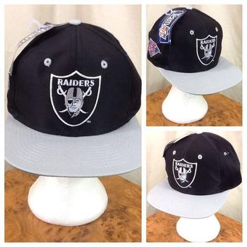 50 · New! Vintage 90 s Competitor Oakland Raiders NFL Football Retro Snap  Back Hat Black db9bb74ca