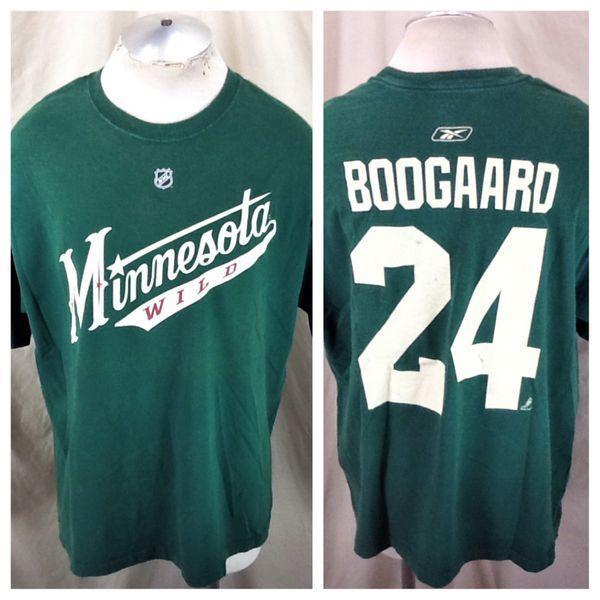 Reebok Vintage Minnesota Wild (XL) Derek Boogaard #24 NHL Shirt Green |  Hockey Apparel | SidelineSwap