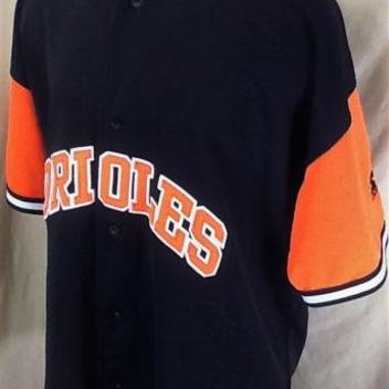 d7fe6b3aad0 Vintage 90 s Starter Baltimore Orioles (2XL) Retro MLB Baseball Button Up  Jersey