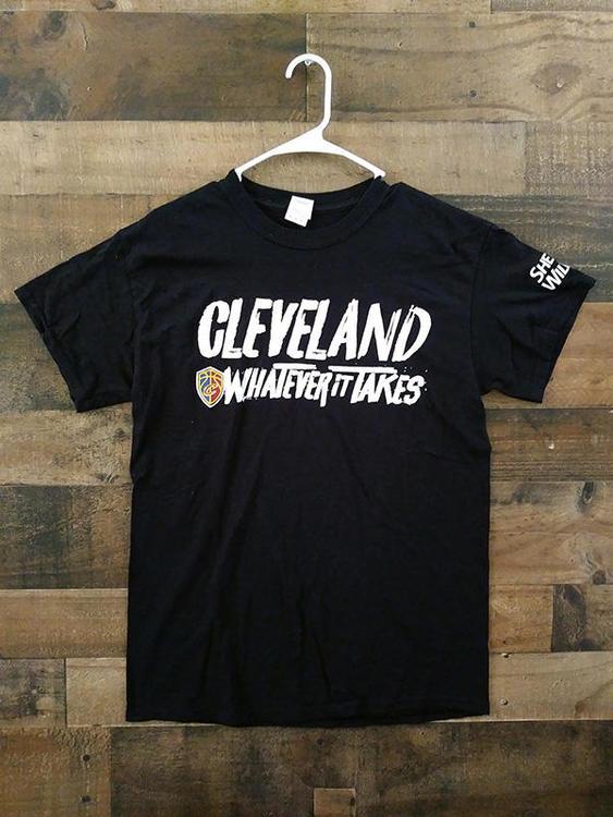 big sale 2ab3d 0e860 NBA Basketball CLEVELAND CAVALIERS Sherwin Williams Whatever It Takes Team  Shirt
