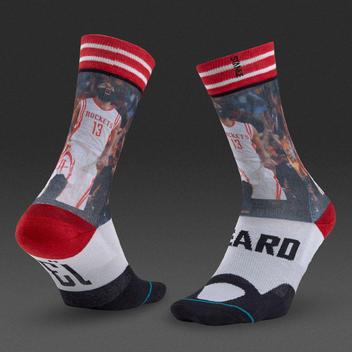 1f50e5cda4b6 STANCE JAMES HARDEN THE BEARD SOCKS LARGE 9-12 HOUSTON ROCKETS NBA ...