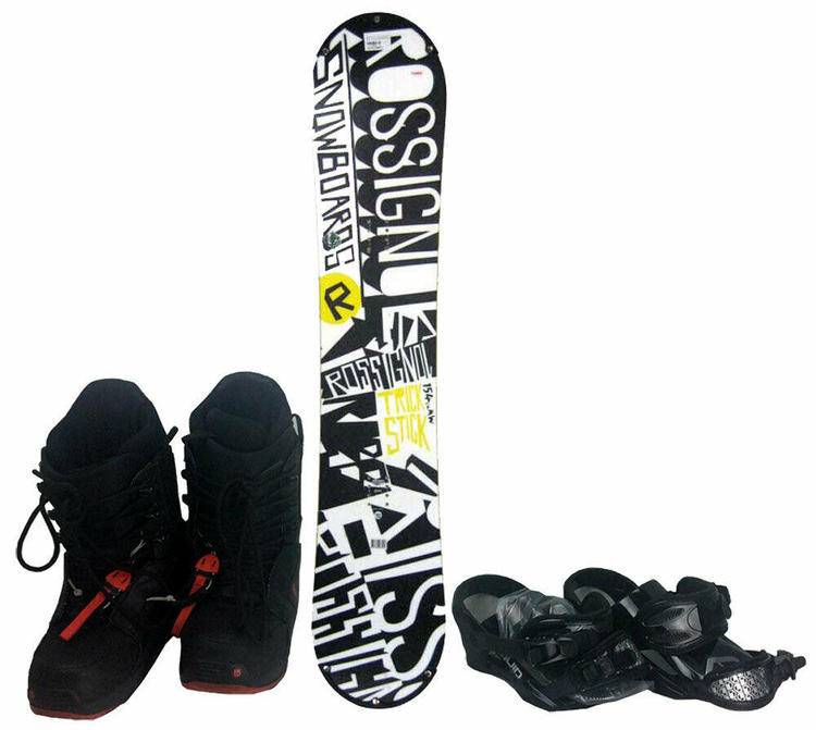 Rossignol Trick Stick Wide Snowboard 154 Cm With Boots And