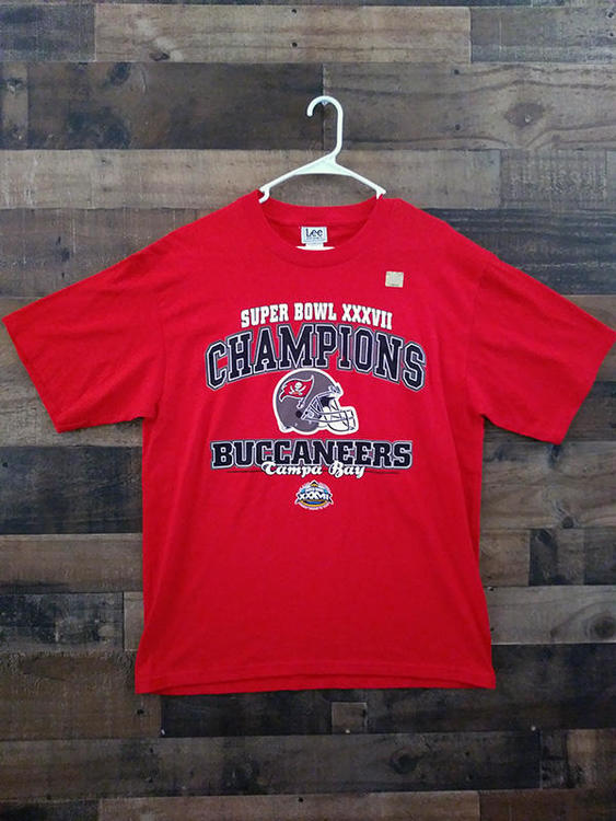 7011ff99 New 2003 NFL Football TAMPA BAY BUCCANEERS Super Bowl XXXVII Championship  Shirt