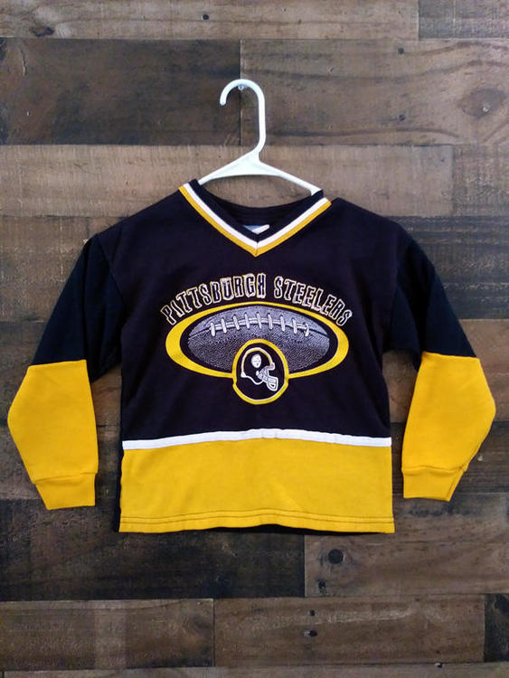 9ff8f960b Vintage 1990s Sportonics NFL Football PITTSBURGH STEELERS Hockey Style  Youth Jersey