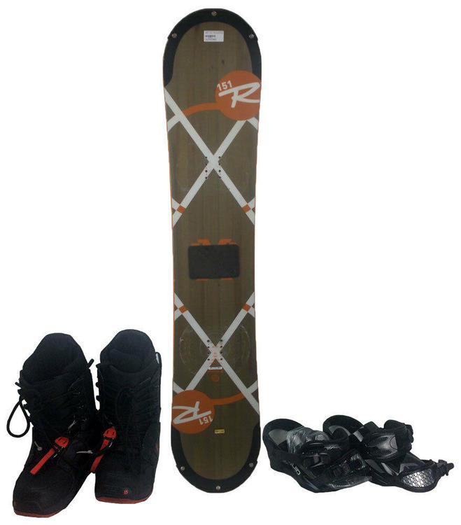 5ae62621906a Rossignol EXP Amptek Auto Turn 151 cm Snowboard with Boots and Bindings -  USED. Related Items