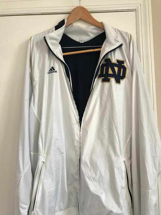 5d41e5b8a5dd Notre Dame Team Issued Basketball Warm Up Jacket - Adidas