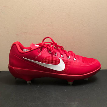 sports shoes 66dcb 86a67 Nike Air Coop Flywire Metal Baseball Cleats Red Size 12.5