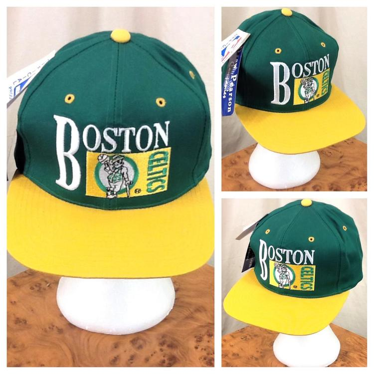 5abd8bc334f Drew Pearson Boston Celtics NBA Basketball Club Retro Snap Back Hat Green.  Related Items
