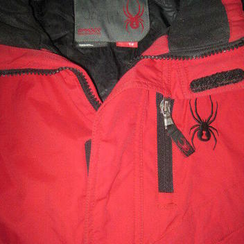 2228a0d642 Spyder XT waterproof ski jacket kids boys 14 red skiing insulated lined snow