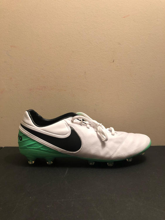 295555c9aaf8 Nike Tiempo Legacy 2 AG Plate Pro Soccer Cleat Green White 844397-103 Size  12