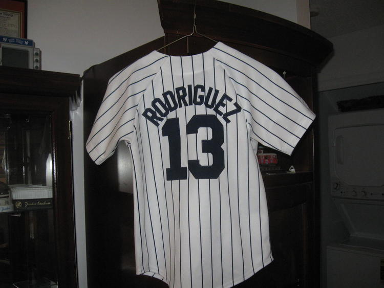 cheap for discount 12b7e dbd64 NY YANKEES AROD ALEX RODRIGUEZ YOUTH HOME JERSEY(S) EMBRIODED! -