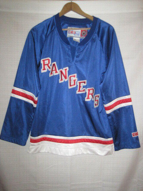 New York Rangers CCM hockey jersey women s L blue NHL 4f3fe5f94bd