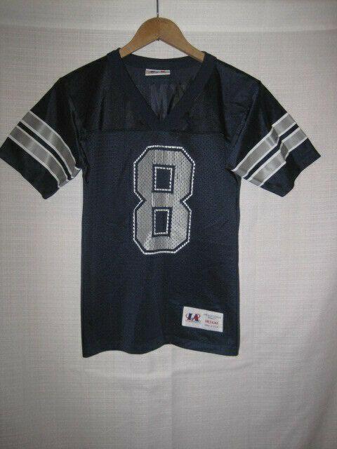 fffcb54f1 Vintage Dallas Cowboys Troy Aikman Jersey kids boys M blue NFL ...