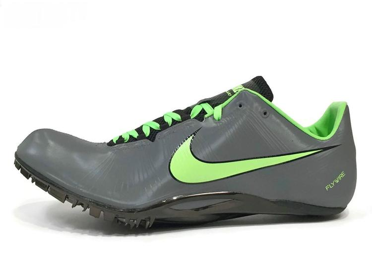 New Nike Mens Zoom Ja Fly Sprint Racing Track Spikes sz 15 Gray Green Black  487624-003