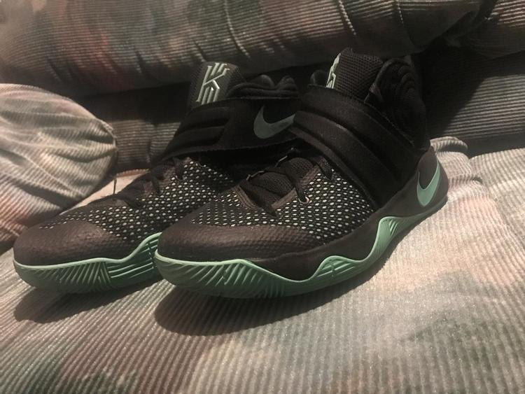 9045f3425440 Nike Kyrie 2 Shoe(black neon Green)