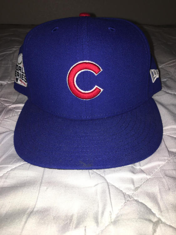 Chicago Cubs 2016 World Series Hat Size 7 1 4  f8497ebe3f4