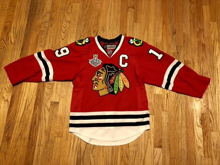 best website 29fac 51491 Jonathan Toews Chicago Blackhawks Authentic Home Reebok EDGE 2.0 7287 Jersey