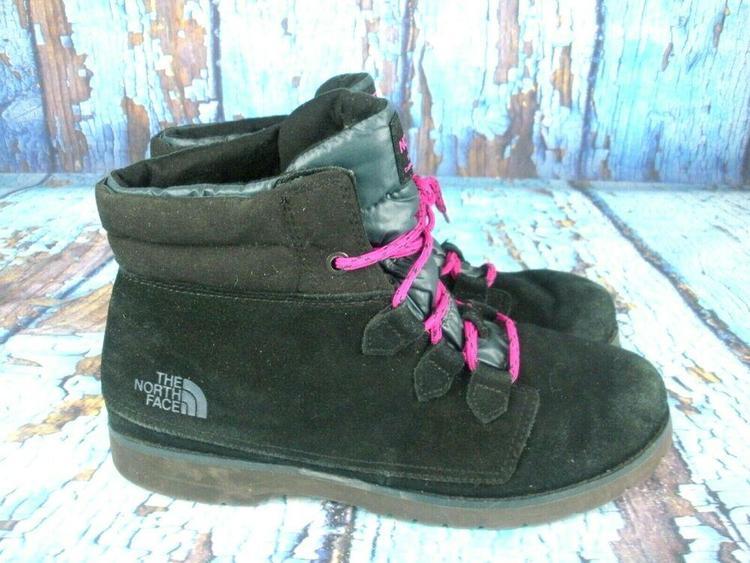sprzedaż hurtowa ładne buty super promocje THE NORTH FACE Heat Seeker Black Suede Lace Up Insulated Ankle Boots  Women's 9