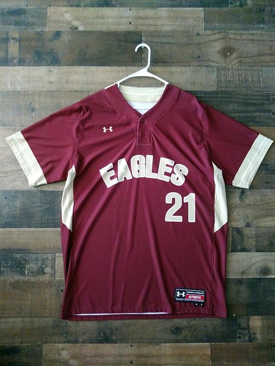 timeless design 34e25 37774 New Under Armour NCAA BOSTON COLLEGE EAGLES #21 Baseball Jersey