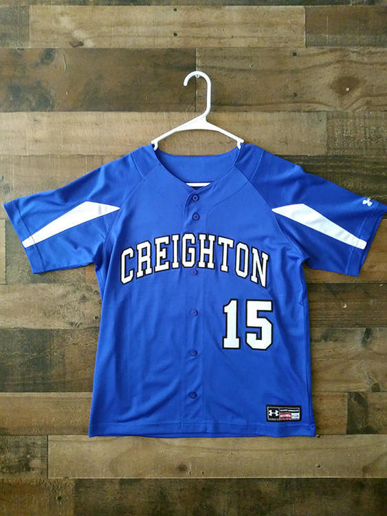 huge selection of a271d 29b14 New Under Armour NCAA College CREIGHTON UNIVERSITY BLUEJAYS #15 Baseball  Jersey