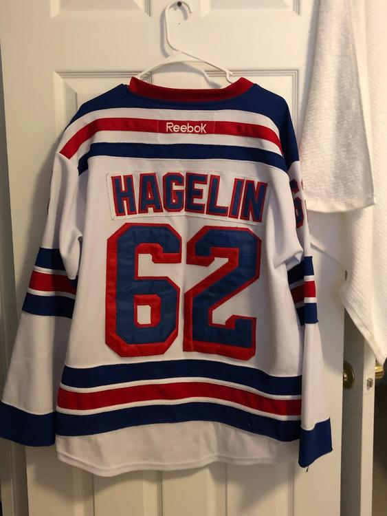 online store a8b4c d08dc New Carl Hagelin Stanely Cup Finals New York Rangers Away Jersey - CCM Size  48 (Medium)