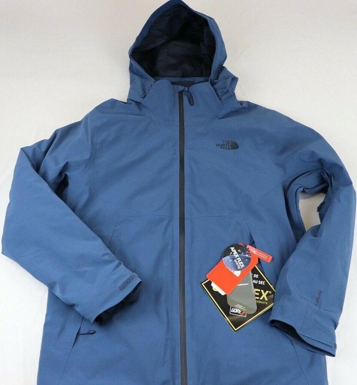 e62a1f2c1 MENS THE NORTH FACE APEX FLEX GORTEX THERMAL/INSULATED JACKET, LARGE, BLUE,  NWT!