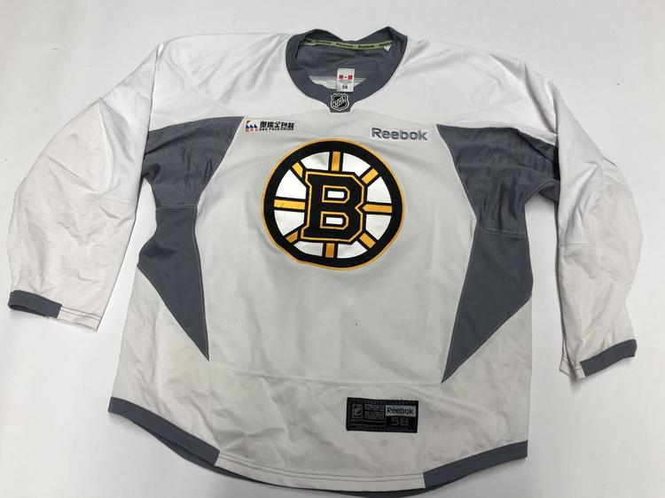 reputable site 26899 9d812 Reebok Edge Custom Authentic Pro Stock Hockey Jersey Boston Bruins White 58