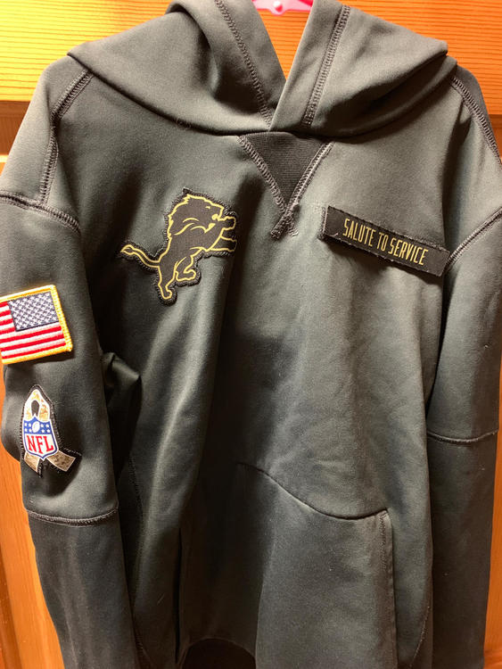a406c48ffed50f Nike Lions Salute To Service Hoodie | Football Apparel | SidelineSwap
