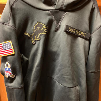 finest selection f6a7c 9dda2 Nike Therma-Fit Carolina Panthers Salute To Service Hoodie ...