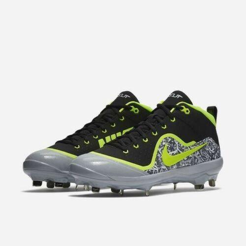 2c62ba3e545 Nike Force Air Trout 4 Pro sz 11 Black Grey Volt 917920 070 Metal Baseball.  Related Items