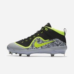 cheap for discount c719e c0344 Nike Force Air Trout 4 Pro sz 11 Black Grey Volt 917920 070 Metal Baseball