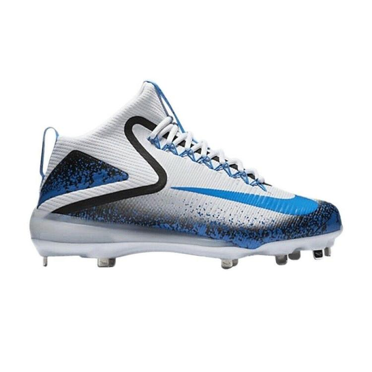 sports shoes b9c11 5cb8e Nike Force Zoom Trout 3 11.5 White Blue 856503 144 All Star Metal Baseball  Cleat. Related Items