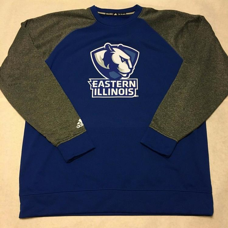 online retailer 60fb0 633b0 Adidas Eastern Illinois University Panthers Raglan Fleece Crew sz 2XL XXL  Blue
