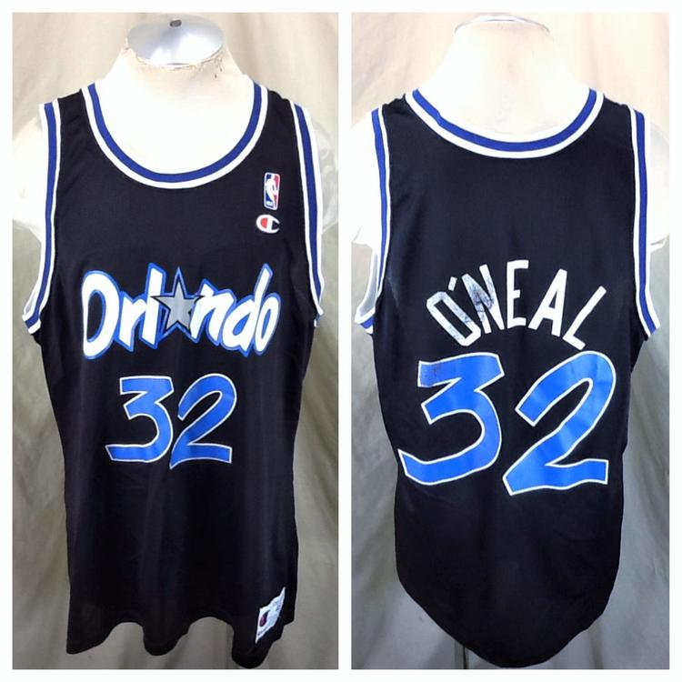 buy online 05db1 12f34 Vintage 90's Champion Orlando Magic (48/XL) Shaquille O'Neal #32 NBA  Basketball Jersey