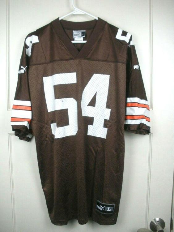 cheap for discount ec26c db80b VTG 90s Chris Spielman #54 Cleveland Browns Puma Football Jersey Adult  Size: L