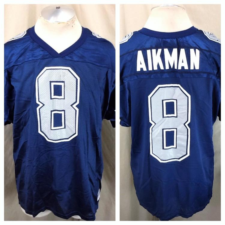 9257b632 Vintage 90's Wilson Troy Aikman #8 (XL) Dallas Cowboys NFL Football Jersey  Blue. Related Items