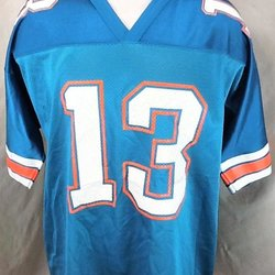 882045d887a Vintage 90's Dan Marino #13 (Large) Miami Dolphins Football Jersey Aqua  Green