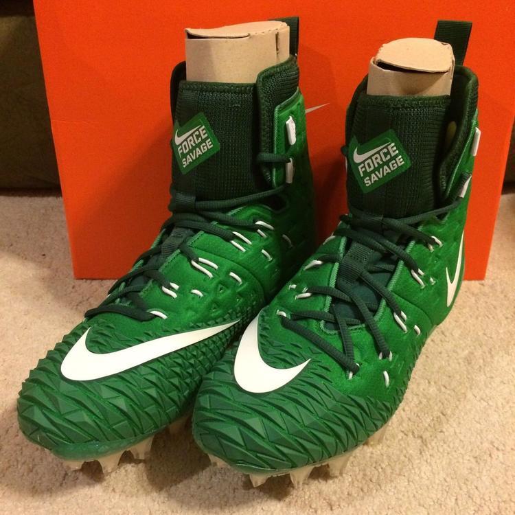 4c4957559 Nike Force Savage Elite TD sz 11.5 Green White 857063 313 Lineman Football.  Related Items