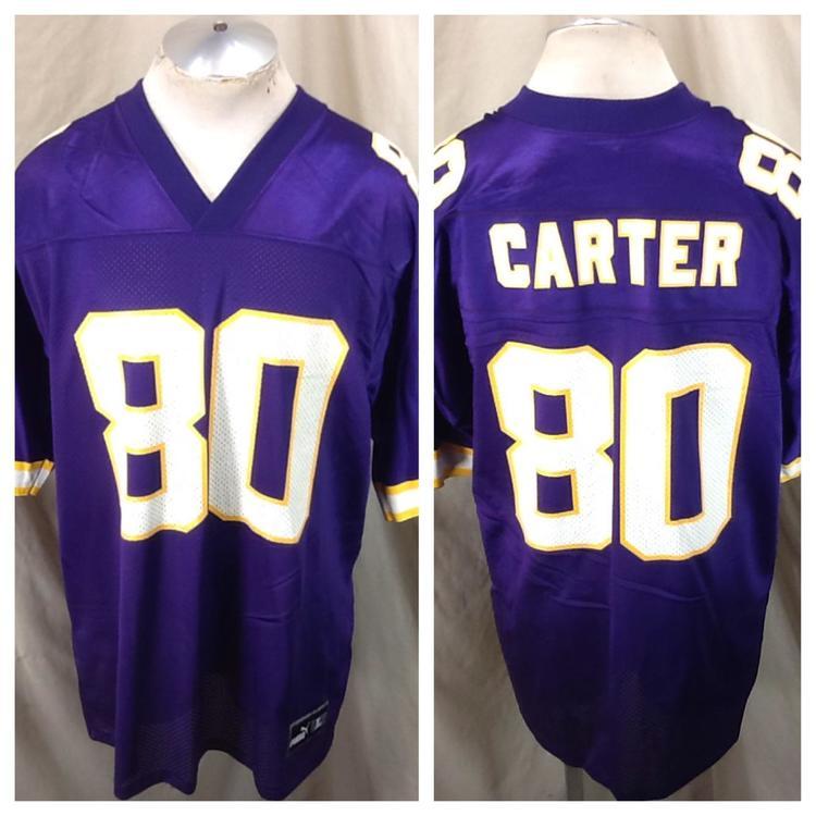 5928e454 Vintage Puma Cris Carter #80 (Large) Minnesota Vikings Retro NFL Football  Jersey Purple