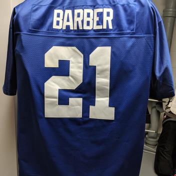 new products 18daf d8dcc Tiki Barber NY Giants Gamewear Replica Jersey